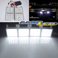 4 x 20 White LED Emergency Strobe Lights for Front Grille/Deck Universal