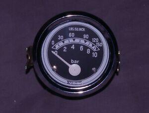 VDO 60mm 6V/12V Oil Pressure Gauge BMW R69 Saab 96 GT850 VW Barndoor Bus Clock