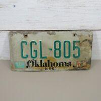 Oklahoma 1987 SUN GRAPHIC License  Plate vintage