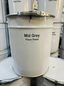 HEAVY DUTY INDUSTRIAL SHOWROOM GARAGE FLOOR PAINT 20LTRS MID GREY