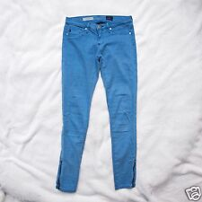 AG Adriano Goldschmied 24x27 The Sateen Zip-Up Legging Ankle Blue Skinny lsn1527
