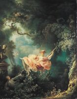 The Swing by Jean Honore Fragonard, Giclee Canvas Print, in various sizes