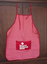New listing Second National Bank Apron, New w/ Mfg Tag Only