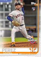 2019 Topps Opening Day #117 Cionel Perez Houston Astros Rookie Baseball Card