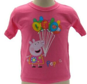 Peppa Cochon T-Shirt Ballons Officiel Original Différentes Tailles Tshirt