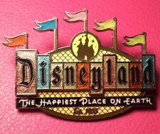 DISNEY PIN - Disneyland 50th Anniversary Retro Collection Marquee Sign Flags
