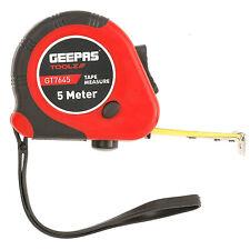 Geepas 5M Retractable Tape Measure Heavy Duty Imperial Metric Measuring Metres