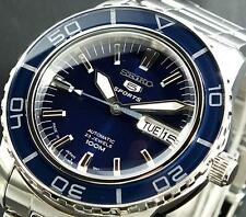 SEIKO SPORTS AUTOMATIC BLUE 100M STEEL WATCH SNZH53J1 Warranty,Box