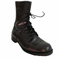 RO Search Combat Bottes 7.5 Hommes Militaire Cuir Noir à Lacets Streetwear