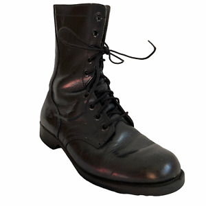 RO Search Combat Boots 7.5 Mens Military Black Leather Lace Up Streetwear