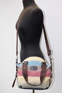 Coofit Striped Canvas Crossbody Shoulder Bag