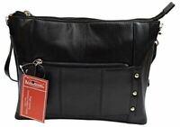 Women's Genuine Leather Stylish Evening Shoulder Purse Bag W/Adjustable Strap