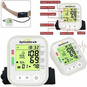 Dgital Automatic Arm Blood Pressure Monitor Heart Rate Tester Measure Machine UK