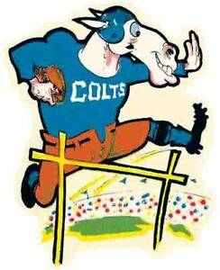 Baltimore Colts   NFL AFL Football 1960's  Vintage Looking Sticker Decal