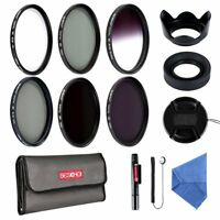 Beschoi 58mm UV CPL ND2 ND4 ND8 Graduated Grey Color Lens Filter Kit Accessories