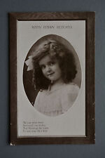 R&L Postcard: Edwardian Pretty Girl Birthday Greetings Picture Frame Design