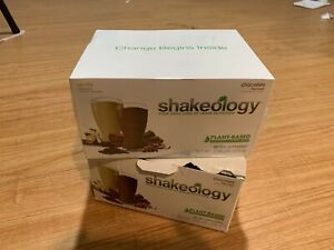 (1) Shakeology VEGAN CHOCOLATE VANILLA 24 SINGLE SERVE SHAKE BOX 9/21 FREE SHIP