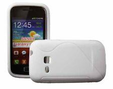 Rubber Case Wave für Samsung S6500 Galaxy Mini 2 II in weiß Silikon Skin Hülle