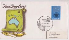 Stamp 4c Lions on Seven Seas Stamps generic cover Centenary of Melbourne GPO