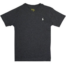 Polo Ralph Lauren Kid's Heather Charcoal Classic V-Neck S/S T-Shirt