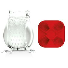 Tovolo Owl Ice Cube Mold/Tray Silicone Bake Pan 4 Detailed Jello Shots Candy
