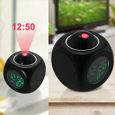 Alarm Clock LED Wall/Ceiling Projection LCD Digital Voice Talking Temperature