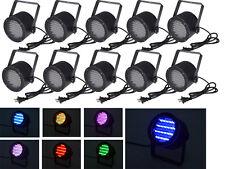 10pcs 86 RGB LED Stage Light Par DMX-512 Lighting Laser Projector Party DJ Disco