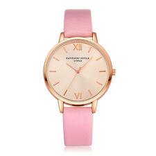 Fashion Women Ladies Girl Stainless Steel Leather Quartz Dress Wrist Watch Gift