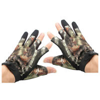3 Shorter Finger Waterproof Fishing Gloves Hunting Anti-Slip Mitts Shooting W8I1