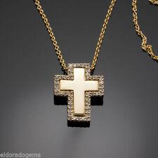 Collane e pendagli con diamanti g in oro giallo 14 carati