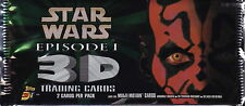 STAR WARS - Episode 1 3D Widevision Trading Card Packs by Topps (18) #NEW