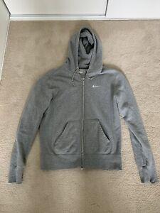 NIKE Light Grey Classic Zip Up Hoodie Mens Size M