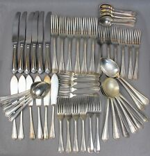 Fabulous vintage silver plated Jesmond pattern 56 pc CUTLERY / CANTEEN SET for 6