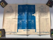 1978 Robby the Robot Blueprint Poster - 23 x 34