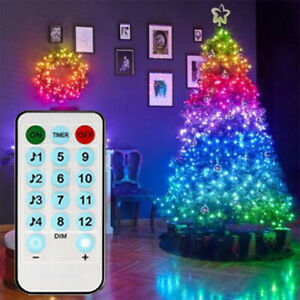 20M Christmas Tree Decoration LED String Lights Remote Control Home Xmas Decor