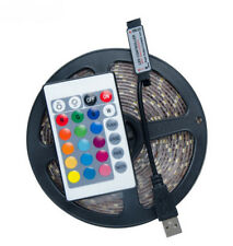 USB 5V 2835 RGB LED Strip Light 60 LEDs/M 0.5M-5M+24 Key RGB Remote Controller