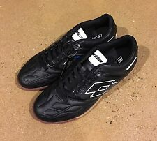 Lotto Stadio Potenza IV Size 9.5 Men's Black White Athletic Indoor Soccer Shoes