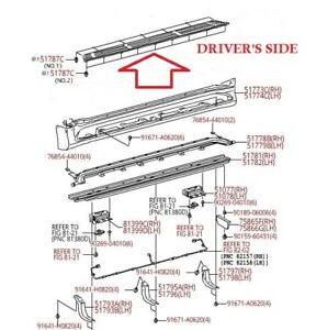 LEXUS OEM FACTORY DRIVERS SIDE RUNNING BOARD STEP PAD 2010-2018 GX460