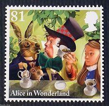 """Mad Hatter`s Tea Party"" (Alice in Wonderland) illustrated on 2015 Stamp - U/M"
