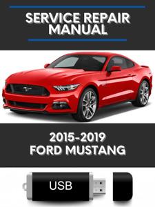 Ford Mustang 2015-2019 Factory Service Repair Manual USB