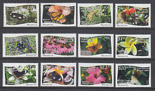 Tonga, Niuafo'ou Sc 301-313 MNH. 2013 Butterflies & Flowers, cplt set incl s/s