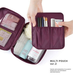 Travel Cosmetic Make up Toiletry Case Wash Bag Organiser Pouch Vanity UK SELLER