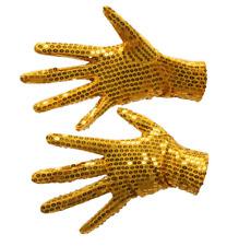 Gants enfants sequin brillants paillettes dorés fête costume déguisement