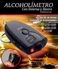 Alcoholimetro llavero con linterna led llaves coche moto test alcoholemia nuevo