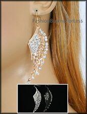 Celebrity Women NEW Angel Wings Faux Diamond Crystal Rhinestone Studded Earring