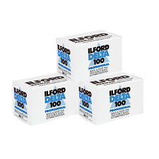 3 Rolls Ilford Delta 100 Pro 135-36 Black & White Print Negative Film FRESH