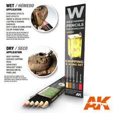 AK-Interactive Weathering Semi Grease Water Pencils Set - Chipping (5pcs)