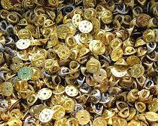 100 ATTACHE POUR PIN'S PIN DORE OU ARGENTE OR GOLD GOLDEN SILVER ARGENT AU CHOIX