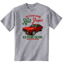 VINTAGE ITALIAN CAR LANCIA BETA COUPE - NEW COTTON T-SHIRT