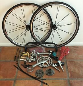 Shimano 105 Road Bike Groupset + Wheelset - BUNDLE - 2x8 - Pedals SPD - Used
